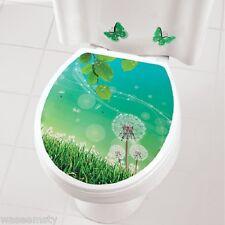 Dandelion Floral Toilet Seat Cover Vinyl Appliqué Decal Bath Accent Decor