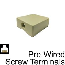 Surface Mount Box Biscuit Jack RJ45 8P8C Ethernet Network Pre-Wired #78111B
