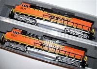 KATO 176-8930-DCC + 176-8931-DCC N 2 loco Set ES44AC BNSF Swoosh 5931/5873