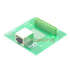 RJ45 Ethernet female jack 9pin port Terminal Breakout PCB Board header AV screw