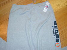 New Mens XL NFL Chicago Bears Football Sweat Pants Lounge Gray Xlarge Adult
