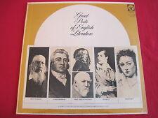 SEALED RARE POETRY LP - GREAT POETS OF ENGLISH LITERATURE - TENNYSON COLERIDGE