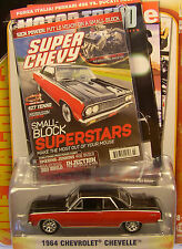 RED AND BLACK 1964 CHEVROLET CHEVELLE GREENLIGHT 1:64 SCALE DIECAST METAL CAR