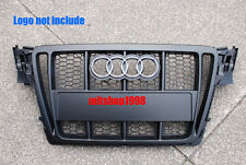 AUDI A4 B8 S4 S-line Matte Black A style Front Hood Grille 08-12