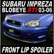 Subaru Impreza Blobeye STI Front Lip Spoiler Splitter 2003-2005 Grey Primer