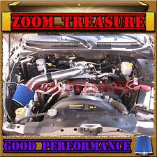 BLACK BLUE 2000-2010/00-10 DODGE DAKOTA/DURANGO/RAM 1500 V6 V8 AIR INTAKE KIT S