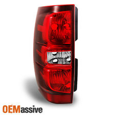 Fits 2007-2014 Tahoe Suburban Red Clear Driver/Left Side Tail Lights Replacement