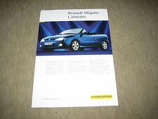 Renault Mégane Cabriolet Cabrio Karmann Prospekt Brochure von 1999