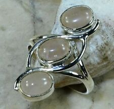 Rose Quartz Sterling Silver Fine Rings