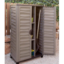 Outdoor Storage Cabinet Garden Vertical Partition Plastic Horizontal Shed Garage & Flat Garden Cabinets Sheds for sale | eBay
