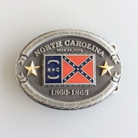 New Vintage North Carolina Oval Flag Belt Buckle Gurtelschnalle also Stock in US