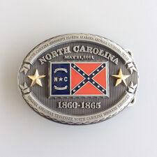 New Vintage North Carolina Oval Flag Belt Buckle Gurtelschnalle also Stock in US