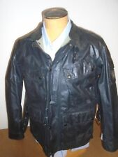 Belstaff Waxed Cotton Black Marshfield Motorcycle Jacket NWT EU 52 / USA XL $995