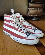 effb3aa0b22695 Converse Hi Top All Star Chuck Taylor American Flag Sneaker Shoes Size 10
