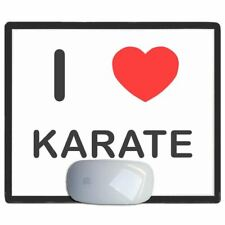 I Love Corazón Karate - Fino Pictoral Plástico Ratón Libreta Tapete BadgeBeast