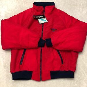 NEW Swingster Partner POLARFLEECE Jacket Zip Coat Men 2XL Red Vintage NOS USA