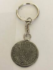 2 Reales Coin WC44 Made From Fine English Pewter on A Split Ring Keyring