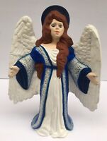 "Tall angel figurine vintage porcelain Hand Made Christmas Decor 13"""