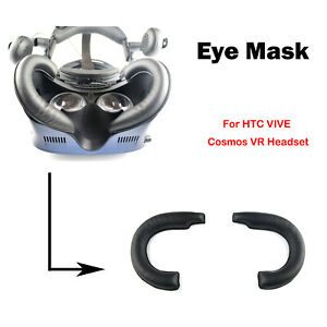 For HTC VIVE Cosmos VR Headset Soft Leather Eye Mask Sweat-proof Mat Replacement
