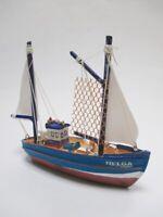 Schiff Modell Fischkutter Nordsee HELGA 11 cm Polyresin ship Collector