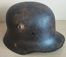 More details for an original trench-recovered imperial german m.16/17 helmet shell from flanders