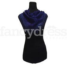 Animal Print Scarf Shawl Royal Blue Spanish Wrap Headscarf Secret Santa NEW