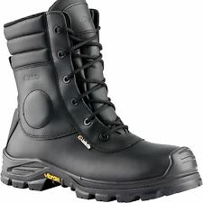 Jallatte JALARCHER Leather Vibram Tactical Safety Hi Work Toecap Zip Boots
