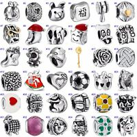 Hot Funny European Beads Holiday Jewelry Fit 925 Sterling Silver Charms Bracelet