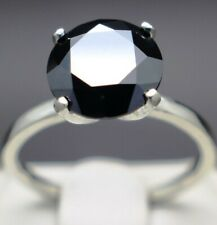 Size 7 Ring & $1715 Value 3.03cts 9.42mm Real Natural Black Diamond Engagement