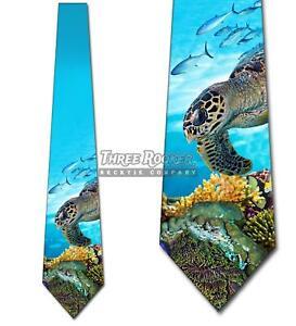 Animal Ties Mens Ocean Turtle Necktie