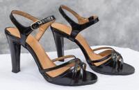 Ernesto Esposito Mistral Black Patent Leather Lory Sole Heels 6.5 M (g25)