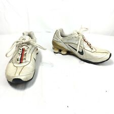 Nike Shox Womens 8.5 Golf Silver Gray Lace Up Athletic Non Marking Running Shoes