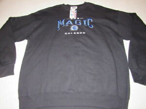 NWT VINTAGE LEE SPORTS 90's Orlando Magic NBA Graphic Sweater MADE IN USA SZ XL