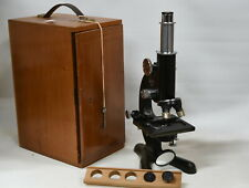 Beck London Model 47 Microscope with Accessories and Case