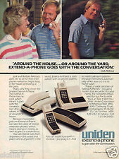 1982 Print Ad of Uniden extend-a-phone Telephone with Jack & Barbara Nicklaus