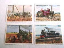 1983 Zambia Early Steam Engines u/m Mi.282/5. T62