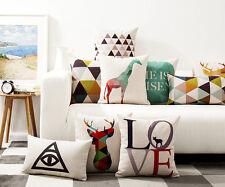 geometric triangles Deer giraffe arrows LOVE Cushion Cover throw pillow Case