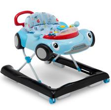 BABY ACTIVITY WALKER Boys Race Car Toys Music Adjustable Learning Blue New