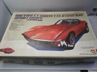 Super Rare Bandai 1968 Corvette Sting Ray coup 1:12 MOTORIZED plastic model kit
