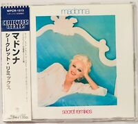 """Sealed MADONNA Secret Remixes JAPAN 5"""" MAXI CD Collectors Series WPCR-1513 OBI"""