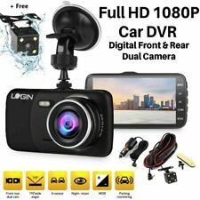 4'' HD 1080p Dual Lens Car DVR With 32gb Card Camera Video Dash Cam Recorder 170