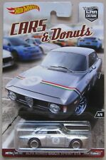 Hot Wheels Car Culture Cars & Donuts ALFA ROMEO GIULIA SPRINT GTA w/ Real Riders