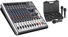 Behringer X1222USB 16-Channel Mixer Board w/ USB & Effects + 3-Pack Mics