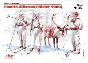 ICM Finnish Riflemen, Winter 1940 Figures in 1/35 566 ST