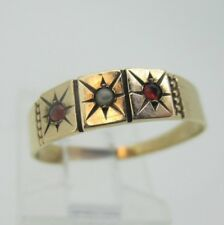 Vintage 10K Yellow Gold Seed Pearl Ring Size 6