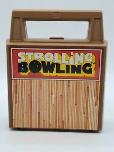 VINTAGE TOMY STROLLING BOWLING Travel Game WIND UP BOWLING BALL, WORKS!!