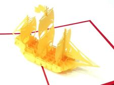 3D Kirigami & Origami Pop-Up Cards for marriage,birthday- Sailing Boat buy 3get1