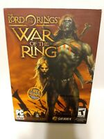 The Lord Of The Ring War Of The Ring game for PC Rated T Complete w/Trading Card