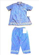 Jane Ashley Blue Jean Denim Capri Pants & Top Set NWT$56 Sz S/M maybe Large too?