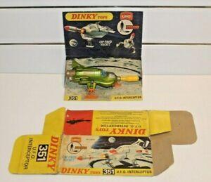 UFO - SHADO MOONBASE  INTERCEPTOR ( DINKY - 351 ) WITH ORIGINAL PACKAGING.